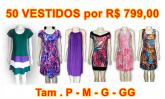 01 - LOTE VESTIDOS com 50 pçs  (15,98cd pç)