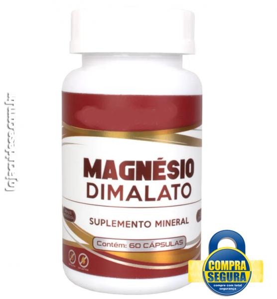 MAGNÉSIO DIMALATO 550MG - COM 60 CÁPSULAS