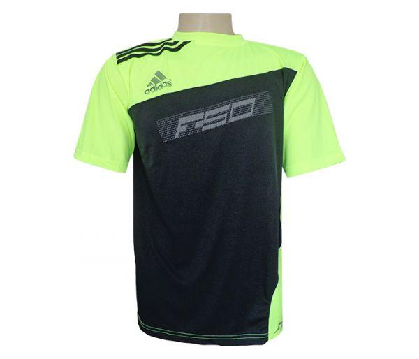 Camisa Adidas Dry Fit Preta e Verde Limão MOD 77383 - Loja de lojademais f9730853b185e