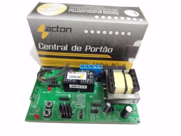 Central Universal Acton Ac4 P/ Motor Portão Eletrônico