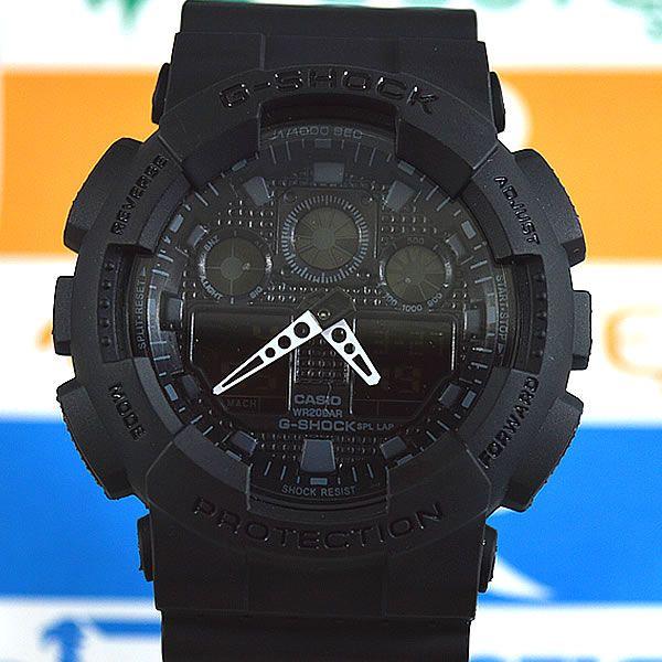 68a61fa7691 Relógio Casio G Shock GA-100 Preto Masculino à prova d´água + Caixa ...