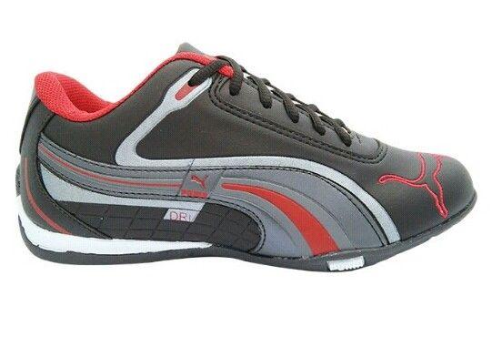 5976951a7f141 Tênis Puma Dri Preto e Vermelho MOD:11457 [1ª linha] - Loja de tenistnt