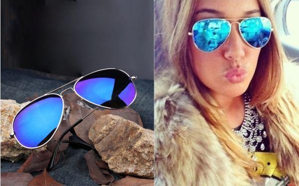 0dc569db1 óculos de sol espelhado azul - Loja Divina e Mulher