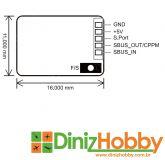 Receptor Frsky R-XSR Ultra SBUS / CPPM D16 16CH  / Telemetria  / Peso 1.5gramas