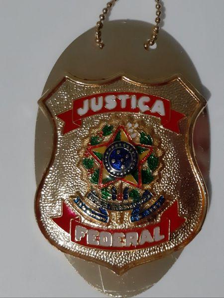 DISTINTIVO JUSTIÇA FEDERAL DOURADO