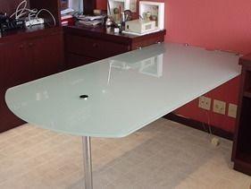 Pé de mesa para tampo de vidro