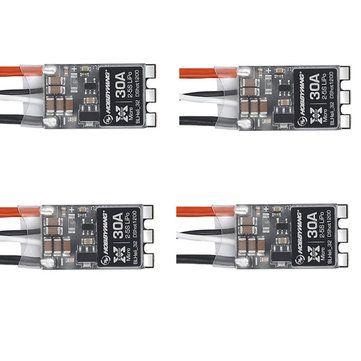 KIT c/ 04 Micro ESC HobbyWing 30A BLHeli_32 / Dshot1200 Lipo 2s á 5S