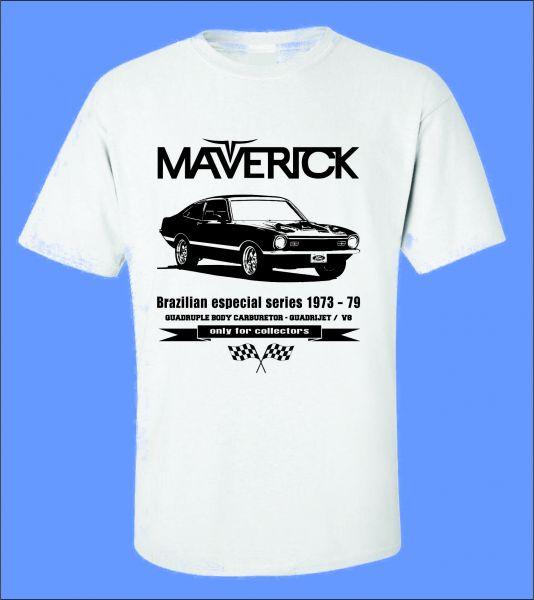 256f83272 Camiseta Carro Antigo Maverick - ROTA RETRÔ 64 Camisetas de Carros ...