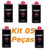 Kit 5 Fluido Original P/ Isqueiro Zippo e Similares