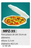 MPZ-35 BANDEJA PARA PIZZA C/ 50 UN. COM LOGOMARCA