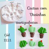 Cactos e Vasinhos (2) Cód 1121