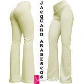 Calça branca offwhite(GG-46), flare ou reta, cintura alta, tom creme bem claro