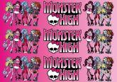 Papel Arroz Monster High Faixa Lateral A4 010 1un