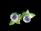 Kit Flores de Papel Rosa Lilás 5cm 2un