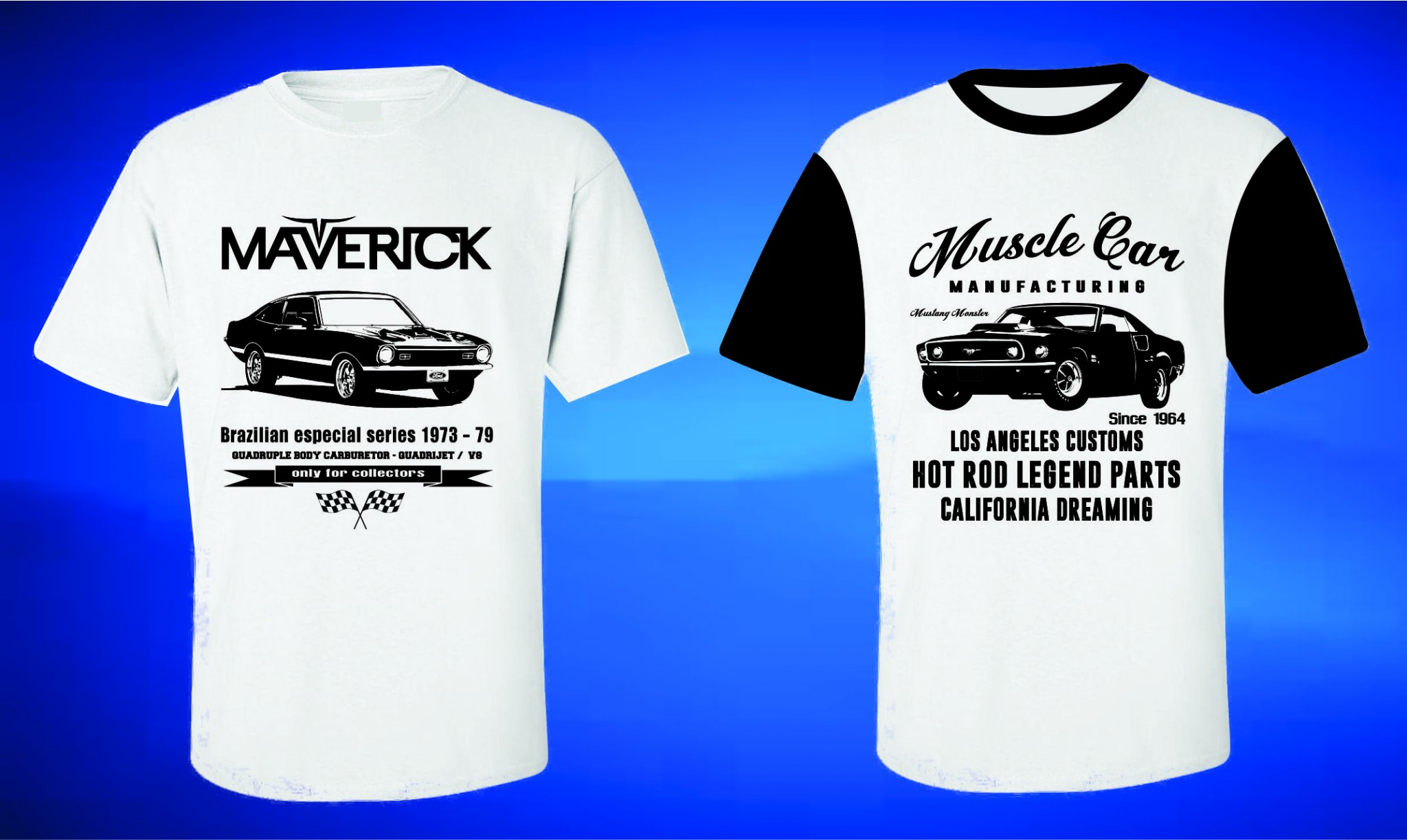 816a34dee ROTA RETRÔ 64 Camisetas de Carros Antigos