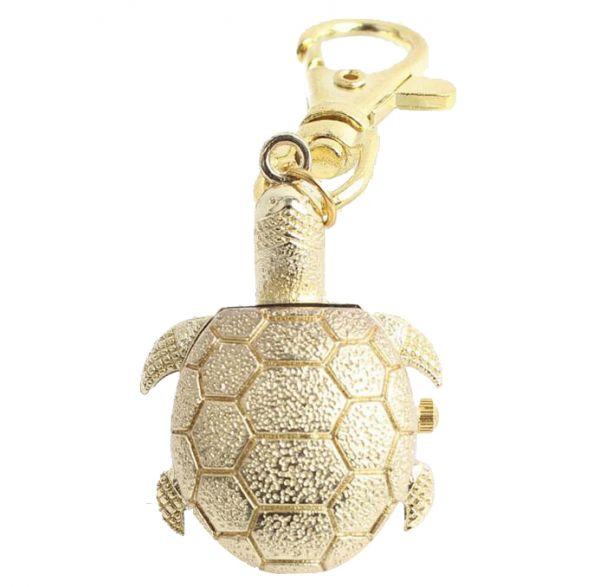 Relógio De Bolso Tartaruga Dourada