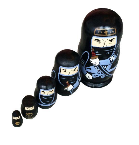 Dyeduchka 5/5 Ninjas - Edição Limitada Matrioska 12cm