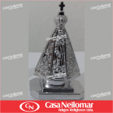016081 - Nossa Senhora Aparecida 05 cm Metal Prateada