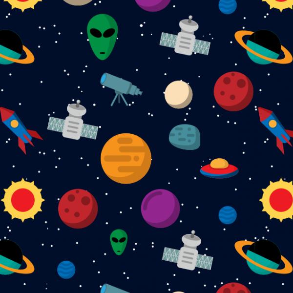 Papel de parede infantil astronauta do espa o papel 128 - Papel decorativo infantil para paredes ...