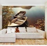 Adesivo de Parede Barcos na Lagoa