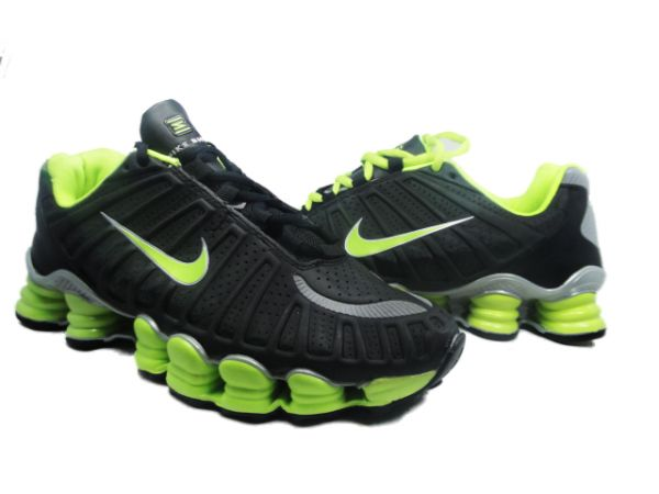 timeless design 4ebdc 34c1d ... Nike Shox TLX 12 molas - Preto com Verde ...