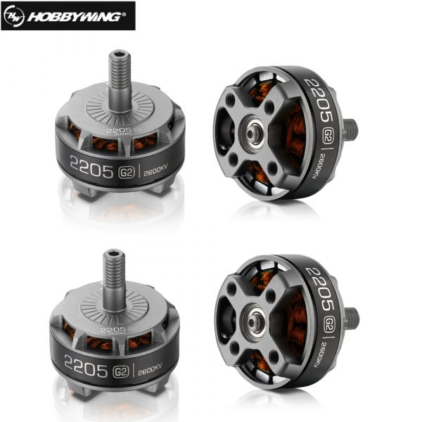 KIT com 04 Motores Hobbywing XRotor 2205 - 2600KV Titanium G2