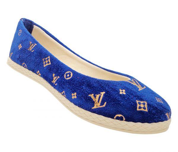 2582f9a6b4a Sapatilha Alpargata Louis Vuitton Azul Royal - Mundo Mulher