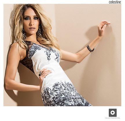 Vestido Celestine Detalhe em tule bordado frente e costa - Loja ... cd1357cdea452