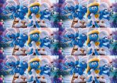 Papel Arroz Smurfs Faixa Lateral A4 008 1un