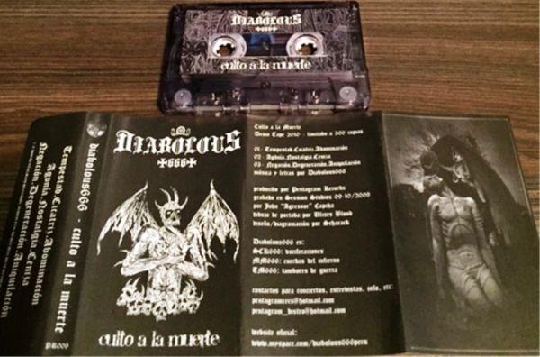 DIABOLOUS666 - Culto a la Muerte - CASSETE