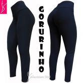 legging azul plus(48/50-52/54), cintura alta, tecido gorgurinho