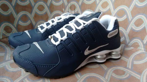 9edda218b Tênis Nike Shox Junior NZ Azul c  Branco - Outlet Ser Chic