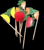 Palito Fruta de Papel 12un