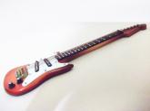 Guitarra Elétrica Miniatura Madeira Réplica Instrumento 15cm