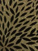 Lonita Dourada Folhas Pretas 1,0mx9cm