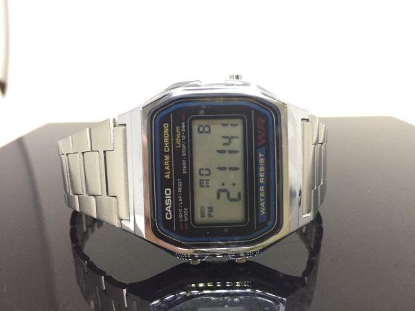 a59b7a5e8ad Relógio Unissex Casio Digital Resistente à Água - Cronômetro Vintage  A158WA-1DF