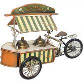 Triciclo Do Sorvete Ferro Lata Brinquedo Bicicleta Picolé