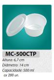 MC-500-CTP EMBALAGEM REDONDA C/ TAMPA 500 ML C/200 UN.