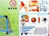 Kit Futebol e Basquete com Trave, Tabela e Bolas 9706LX - Lotus