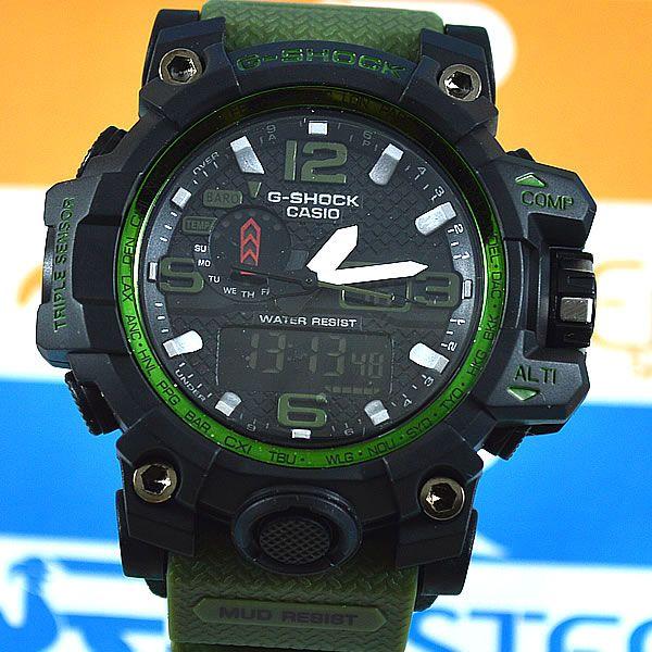 93e53b546f2 Relógio Casio G-Shock Mudmaster Preto Pulseira Verde Masculino ...