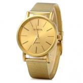 c29b8c7aa3d Geneva Relógio Masculino Quartz com Pulseira de Aço Inoxidável