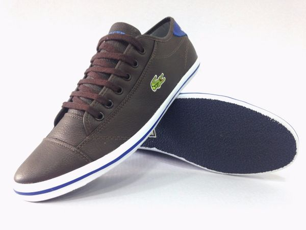Sapatênis Lacoste Classic Marrom Escuro - Outlet Ser Chic 156a3b6947