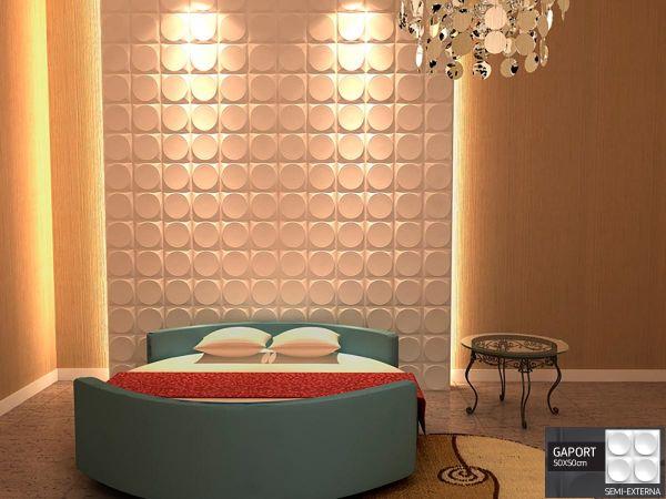 Revestimento 3D Placas Decorativas 3D Board - Para Áreas Semi-Externas e Internas PVC - Gaport