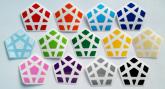 Megaminx Moyu YJ YUHU - 12 cores+1preto