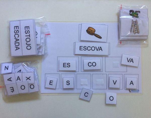 Alfabetização Figura, palavra e separação 2