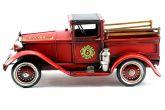 Caminhão Fire de Bombeiros Antigo Enfeite de Metal  28 cm - La Verne