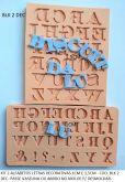kit 2 alfabetos letras decorativas 1cm/1,5cm ( BLK 2 dec )
