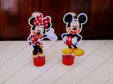 Aplique para tubete - Mickey e Minnie Mouse