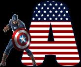 Alfabeto - Capitão America 1 - PNG