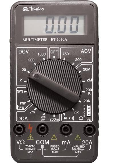 COD 1512 - Multímetro Digital Minipa ET-2030A